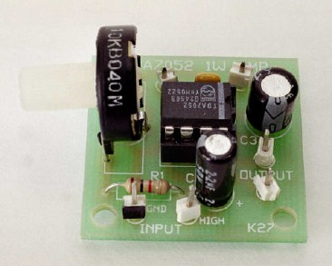 1W Mono Amplifier with TDA7052 circuit