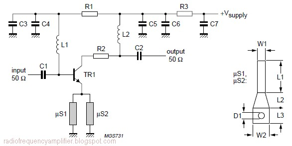 900MHz RF Amplifier based BFG480W