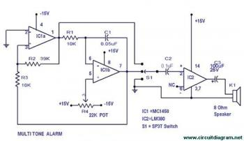 Multitone Alarm circuit diagram