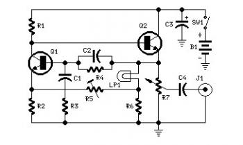 1KHZ Sine Wave Generator Circuit