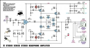 Stereo Headphone Amplifier circuit diagram