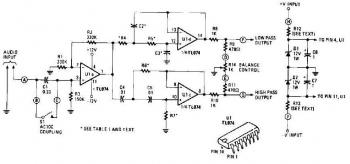 Active Crossover Circuit based TL074