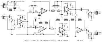 2-Way Active Crossover Circuit diagram