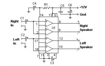 22W Audio Amplifier with TDA1554