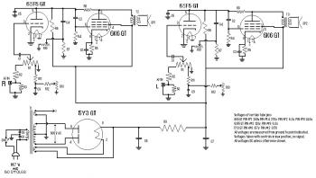 Stereo Tube Power Amplifier Schematic circuit diagram