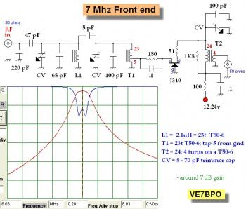 40M Band RF Preamp with 3 Tuned Filters