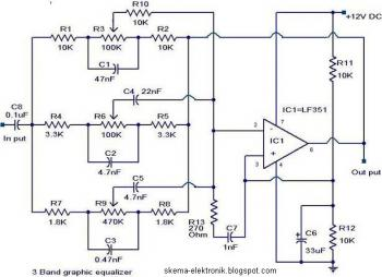 3 Band Graphic Equalizer circuit diagram