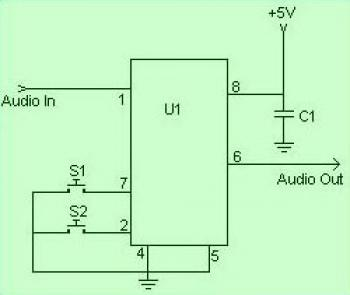 Digital Volume Controller  circuit diagram