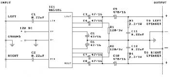 2x3W Audio Amplifier with IC BA5406 circuit