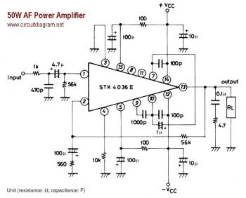 50W AF Power Amplifier with STK4036II