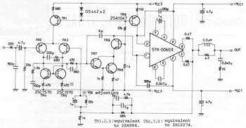 STK-0060II, 60W AF Amplifier