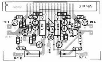 2x30W Audio Amplifier with STK465 circuit