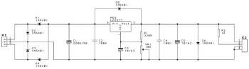Negative Adjustable Power Supply circuit diagram