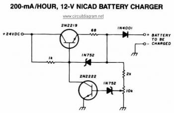 12V NiCAD Battery Charger circuit