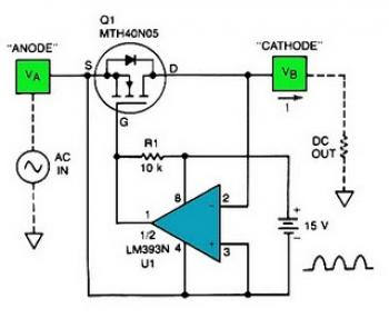 Low Forward-Drop Power Supply Circuit circuit diagram