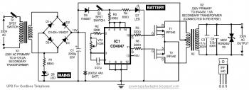 This is the schematic diagram of UPS CIrcuit for Cordless Telephone :