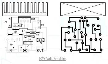 10W Audio Amplifier Circuit diagram
