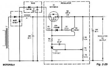 Cheap Low-Dropout 12V / 3A Linear Regulator  circuit diagram