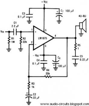 20W Audio Power Amplifier circuit diagram
