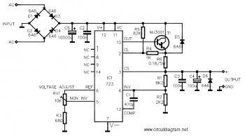 3V 30V/3A Adjustable Regulated Power Supply circuit