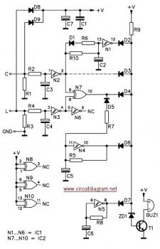 Car Headlight Alarm circuit diagram