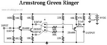 Dan Armstrong Green Ringer Guitar Effect Circuit Schematic