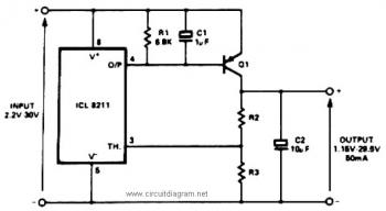 Positive Voltage Regulator Circuit with PNP Boost circuit diagram