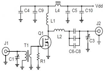 500W 27Mhz RF Amplifier Circuit diagram