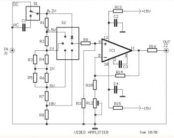 Video Amplifier circuit based LH0032