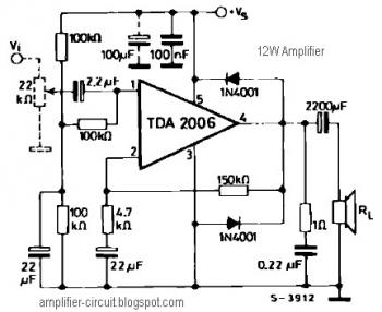 12W Audio Amplifier Circuit with TDA2006