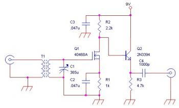 AM RF Amplifier Circuit for External Antenna