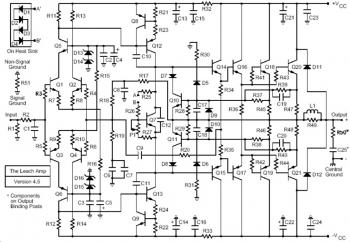 200W Leach Amp Circuit diagram