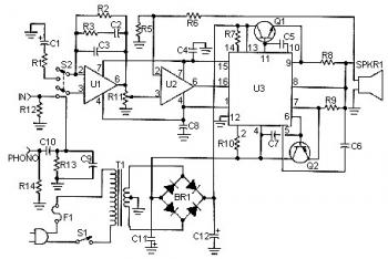 50W Audio Power Amplifier based ICL8063 circuit diagram