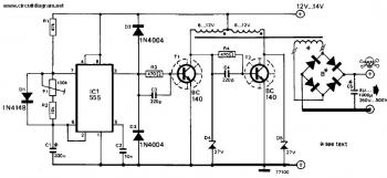 DC to AC Inverter Circuit Diagram