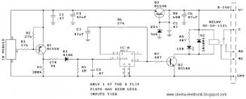 Infrared Toggle Switch schematic diagram