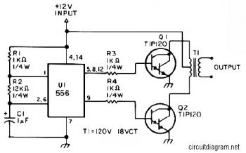 25W 10-16V DC to 115VAC Inverter circuit