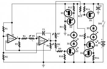 Fading LEDs Circuit diagram