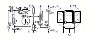 4W HF Bands QRP RF Linear Amplifier circuit diagram