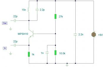 UHF-TV Pre-Amplifier circuit diagram