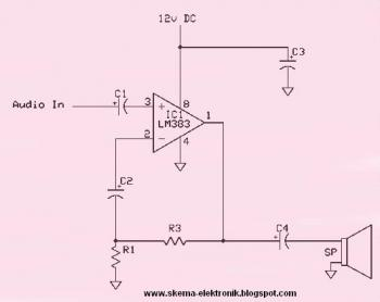 8 Watt Audio Amplifier circuit diagram