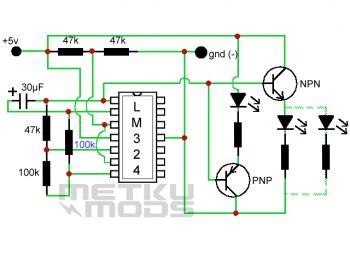 LED Color Fade Effect circuit diagram