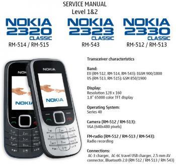 on 2323 Classic Nokia 2330 Classic Rm 512 Rm 513 Rm 514 Rm 515 Rm 543