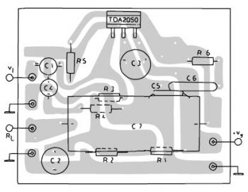 TDA2050 Amplifier PCB layout