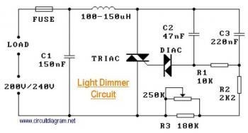 220V Light Dimmer circuit diagram