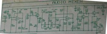 Audio Mixer + VU Meter circuit