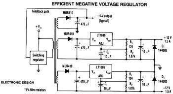 LT1086 Negative Voltage Regulator circuit diagram