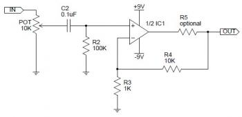 CMoy Headphone Amplifier Circuit diagram