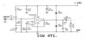 15W OTL Power Amplifier based TDA2030