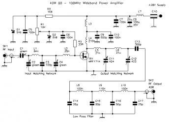40W Wideband RF Power Amplifier 88 - 108 MHz