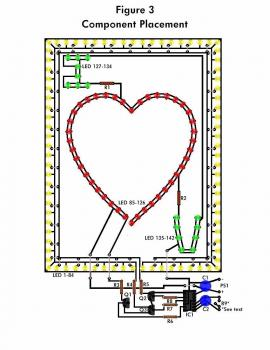 LED Flashing Heart top pcb layout